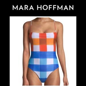 NWT Mara Hoffman One-Piece Swimsuit Med.